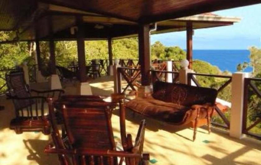 Location de vacances - Villa à Ko Samui - Terrasse principale face au panorama