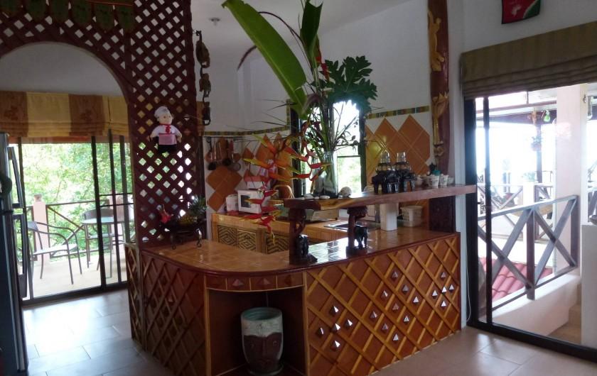 Location de vacances - Villa à Ko Samui - Cuisine, terrasses