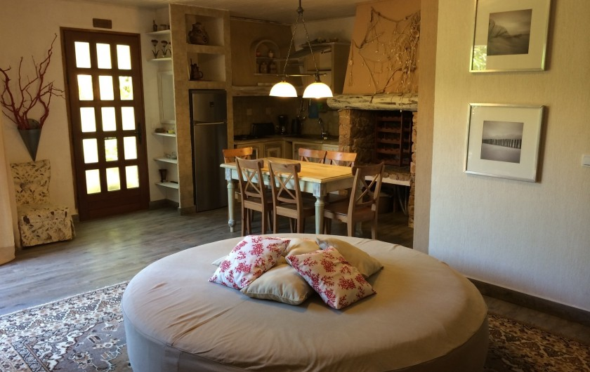 Location de vacances - Villa à Lecci - Salon et coin cuisine