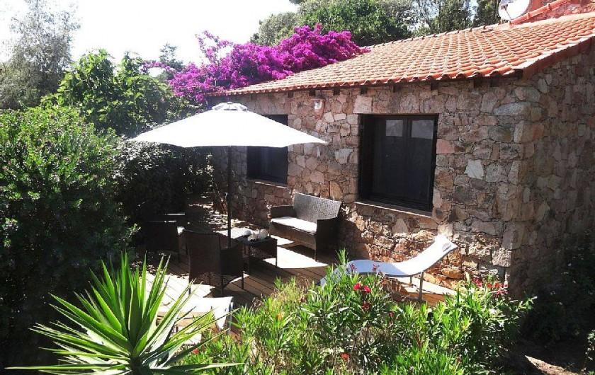 Location de vacances - Villa à Lecci - Vue extérieure de la maison
