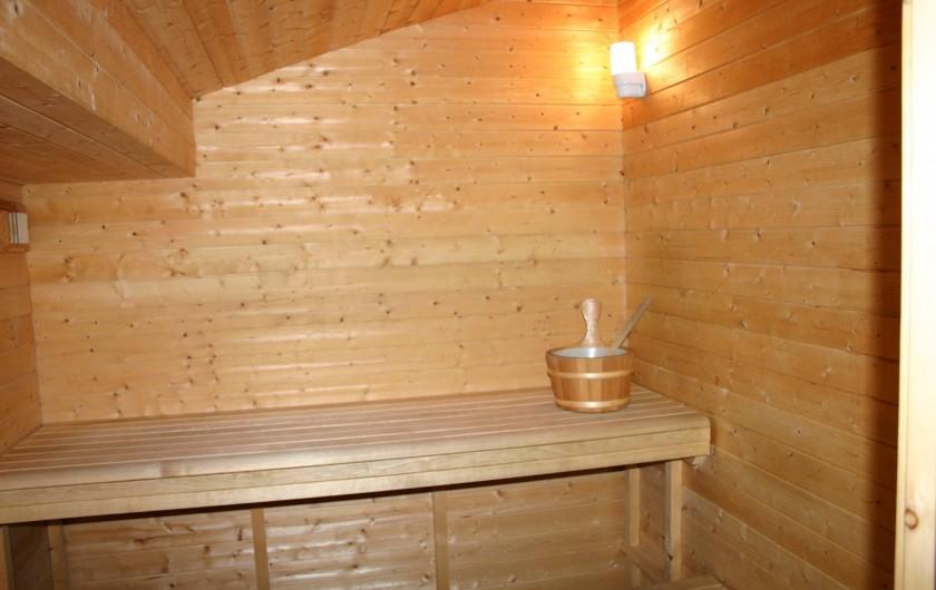 Location de vacances - Gîte à Petit-Thier - Le sauna