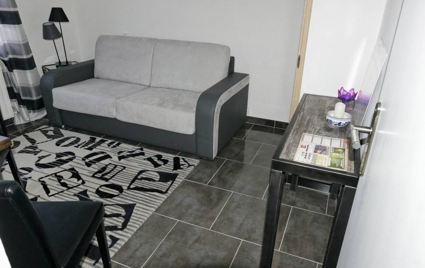 Location de vacances - Appartement à Saint-Valery-en-Caux - Chambre N°2 avec canapé lit double