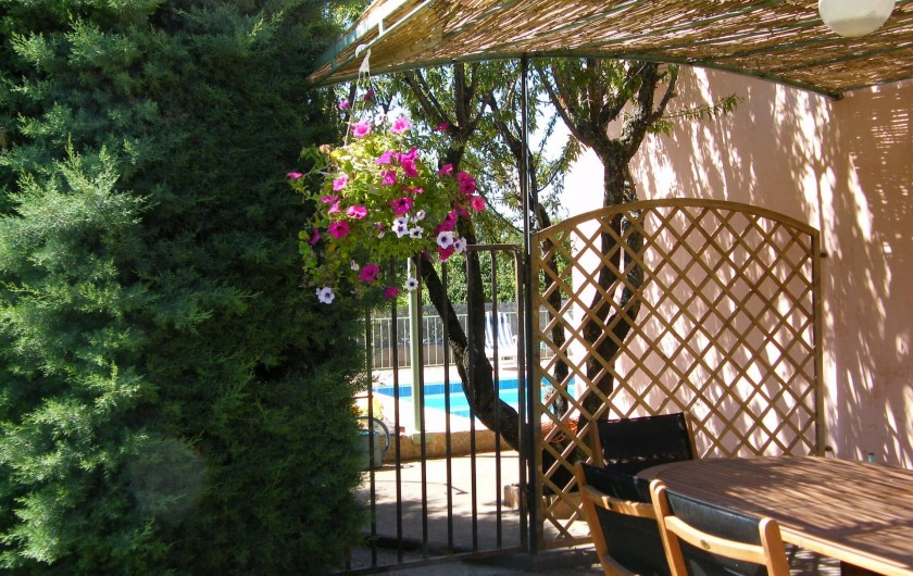 Location de vacances - Gîte à Gargas - Terrasse Sauge