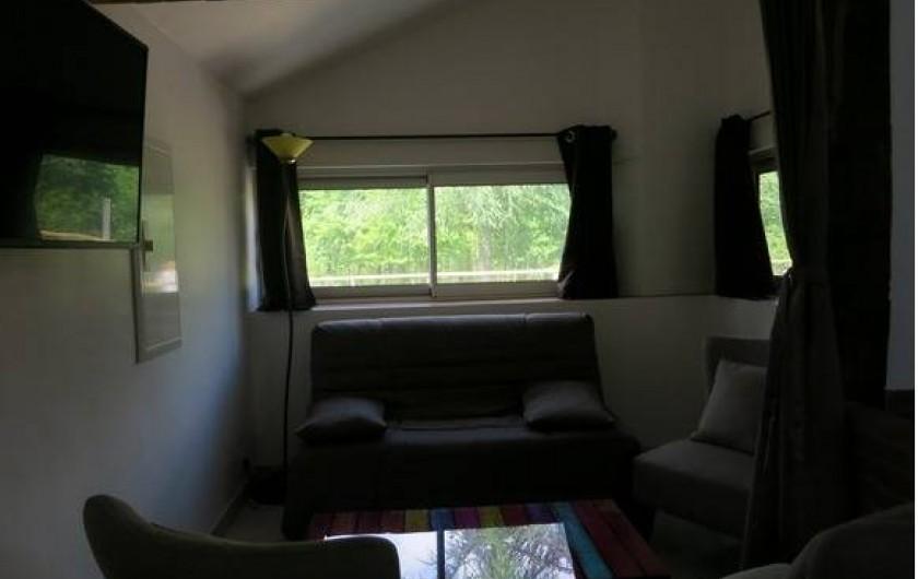 Location de vacances - Gîte à Magescq - le coin salon, avec tv satellite et différentes connexions (hdmi,...)