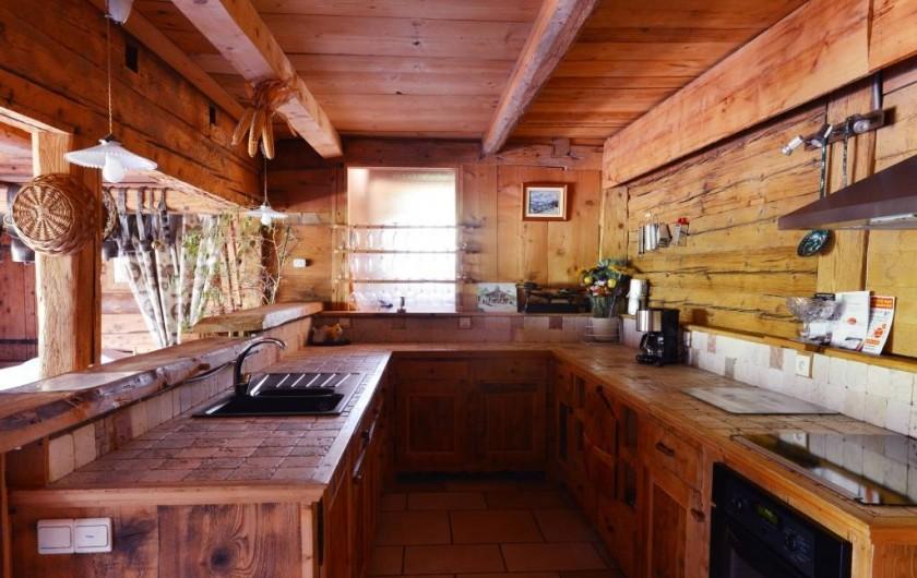 """Location de vacances - Chalet à Flumet - Cuisine """" le stieu"""""""