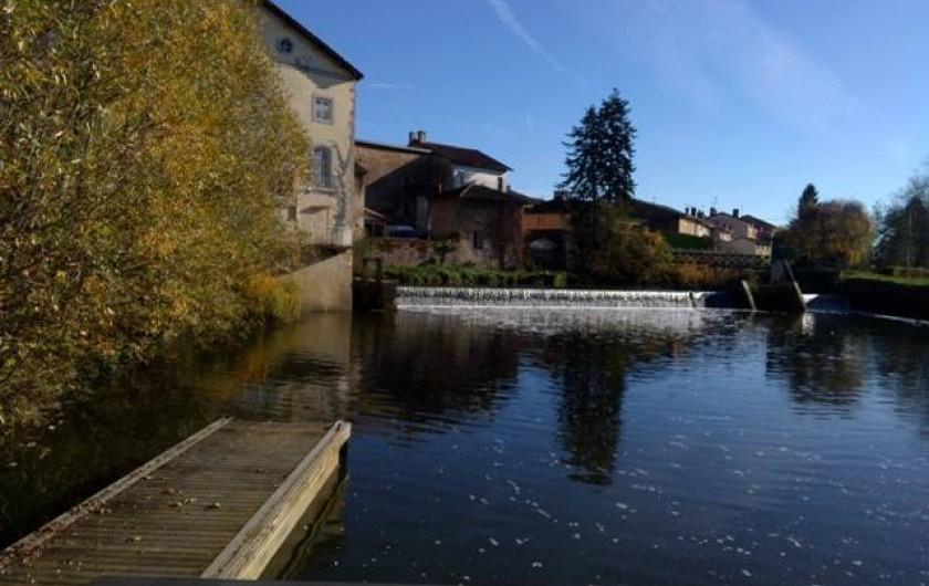 Location de vacances - Péniche à Mâcon - Port de pont de Vaux au cœur du village