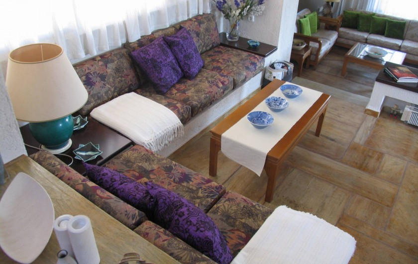 Location de vacances - Villa à Corfu - Small lounge area near the dining area.