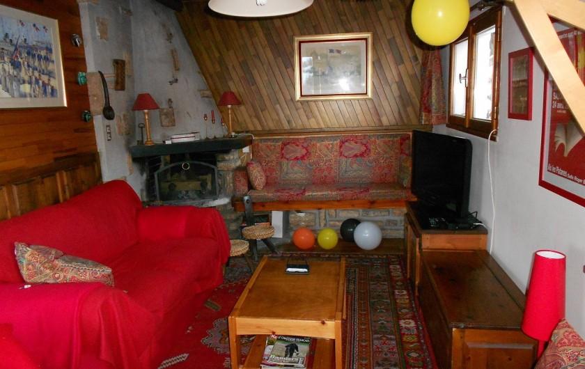Location de vacances - Chalet à Vars - Salon, coin feu