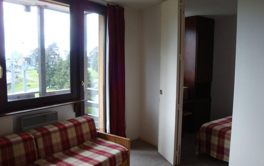 Location de vacances - Appartement à Avoriaz - Cloison séjour/ chambre