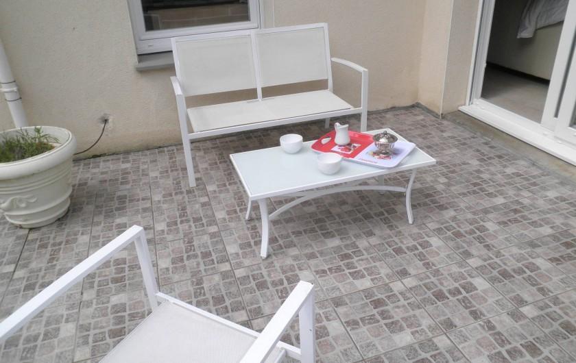 Location de vacances - Chambre d'hôtes à Saint-Josse - coin terrasse pour le petit déjeuner