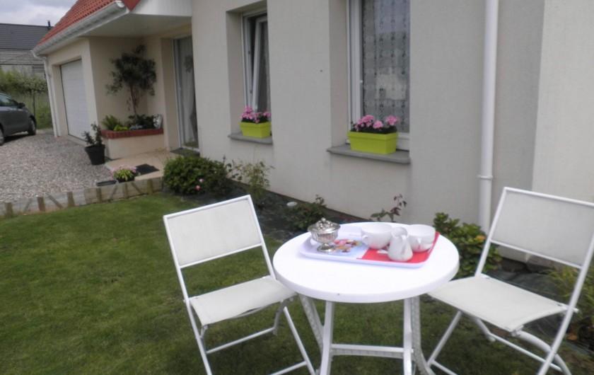Location de vacances - Chambre d'hôtes à Saint-Josse - coin jardin