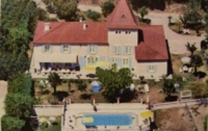 Location de vacances - Gîte à Castelnau-sur-Gupie - vue d'avion