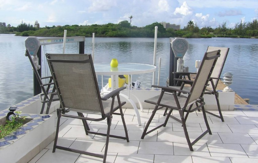 "Location de vacances - Villa à Maho - ""Al Fresco"" ou coin apéritif"