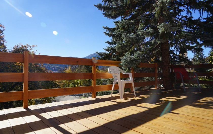 Location de vacances - Chalet à Seyne - vue de la terrasse