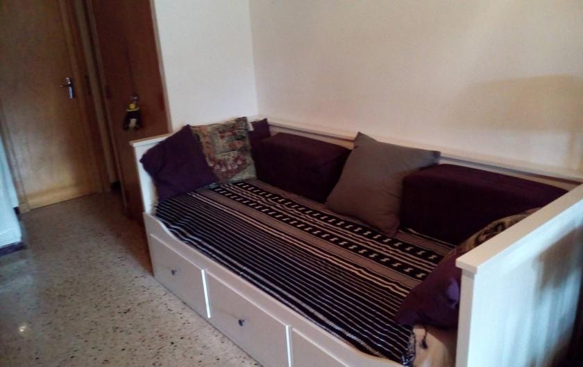 Location de vacances - Chalet à Seyne - Studio : Canapé lit