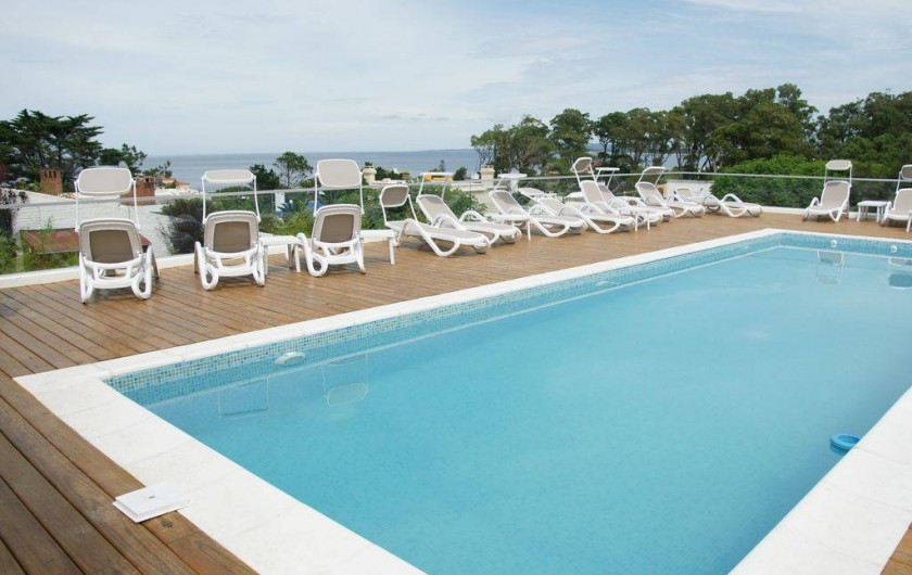 Location de vacances - Appartement à Maldonado - Piscine de la résidence Rinconada del Mar