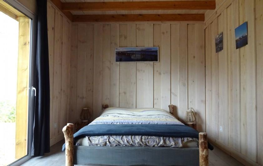 Location de vacances - Maison - Villa à Naujac-sur-Mer - chambre avec vue sur la forêt derrière