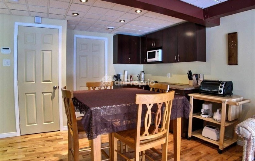 Location de vacances - Chalet à Mont-Tremblant - 4th Bedroom with Queen size bec, sofa bed, full bathroom and kitchenette.