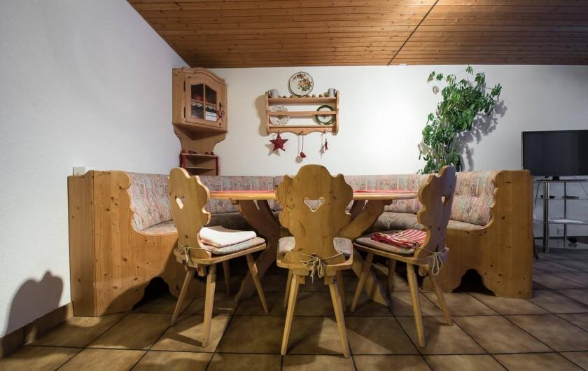 Location de vacances - Appartement à Fieschertal - Coin de manger Apprtemetn Seppi