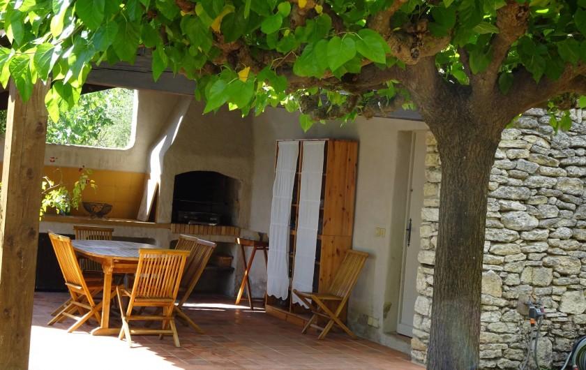 Location de vacances - Mas à Uzès - Pool house cuisine d'été
