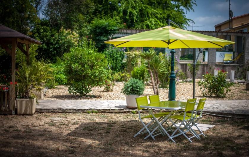 Location de vacances - Gîte à Béziers - Repas extérieur