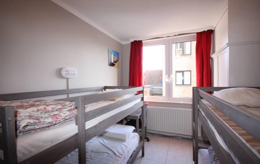 Location de vacances - Appartement à La Panne - Chambre 3 : 2 x 2 lits superposés
