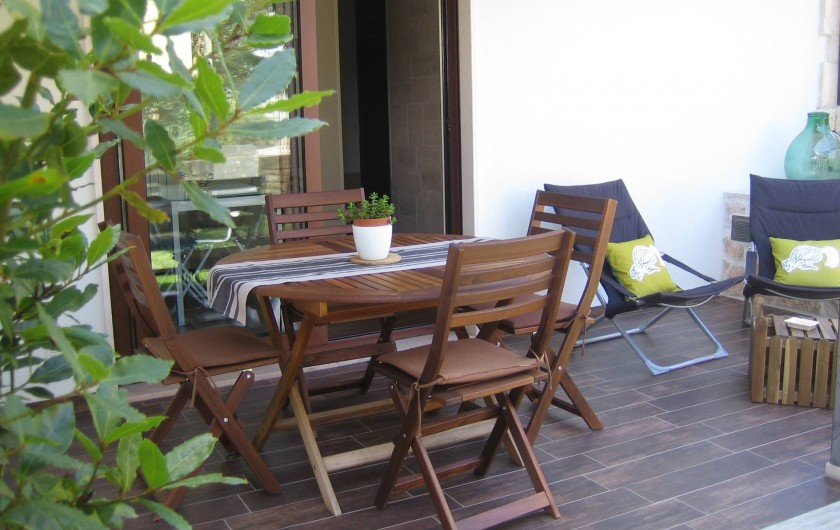 Location de vacances - Maison - Villa à Alberobello - Terrasse et accès cuisine
