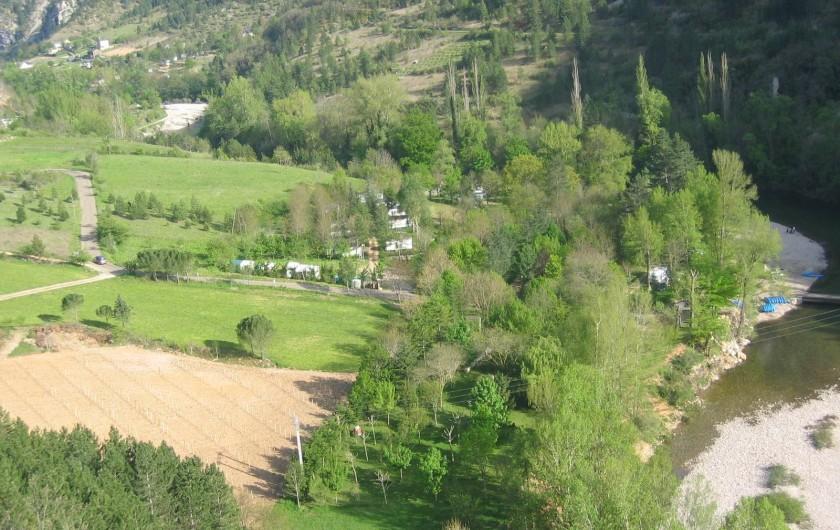Location de vacances - Camping à Castelbouc - Le camping vu d'en haut