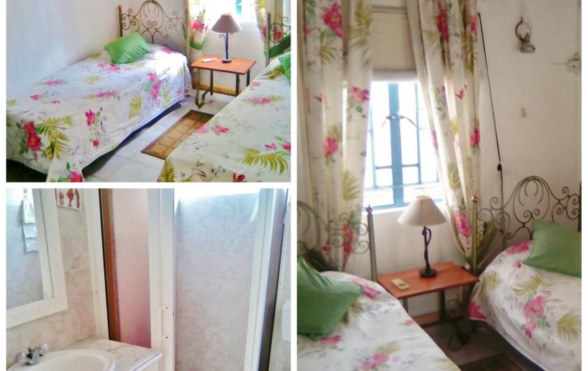 Location de vacances - Villa à Pereybere - Chambres lits jumeaux villa + Salle d'eau