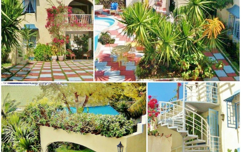 Location de vacances - Villa à Pereybere - Jardin tropical et  Vue aérienne