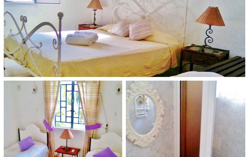 Location de vacances - Villa à Pereybere - Chambre Double +Chambre lit jumeaux + salle d'eau bungalow rdc