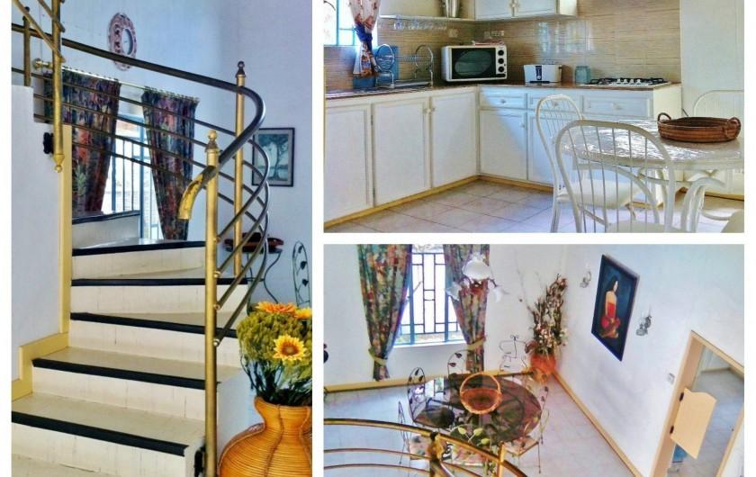 Location de vacances - Villa à Pereybere - Cuisine+Escaliers Villa