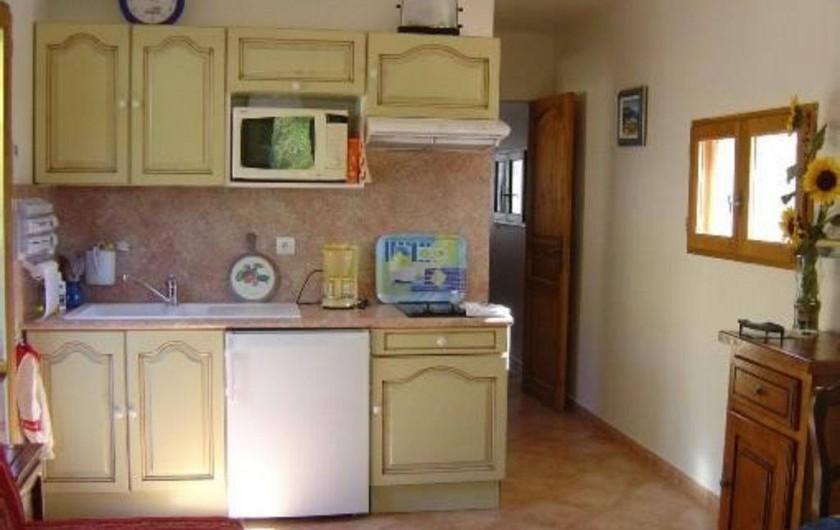 Location de vacances - Appartement à Esparron-de-Verdon - Location N1  cuisine américaine  avec lave vaisselle