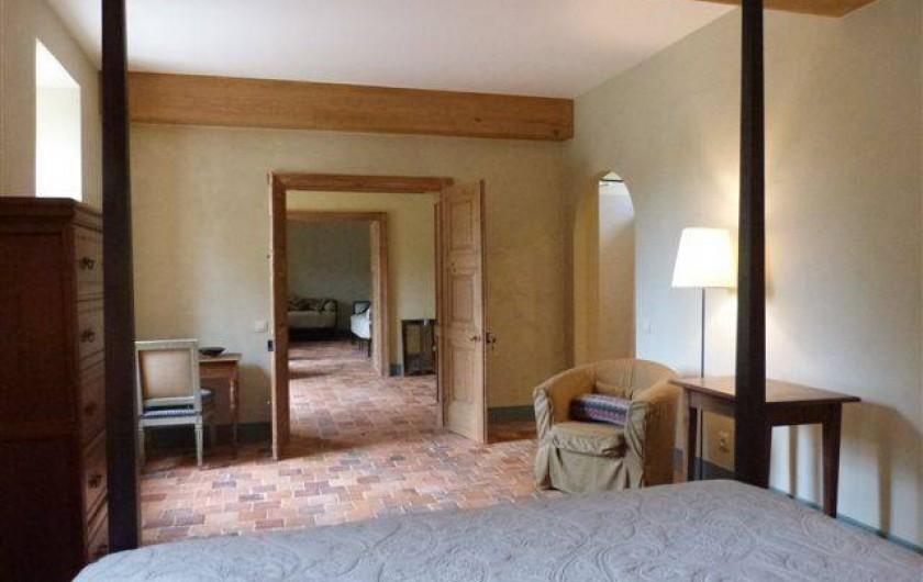 Location de vacances - Chambre d'hôtes à Vauciennes - grande suite de deux chambres rez de jardin