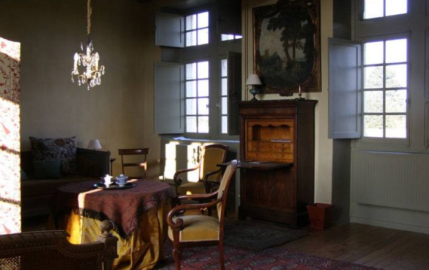 Location de vacances - Chambre d'hôtes à Vauciennes - grande chambre du 1er étage