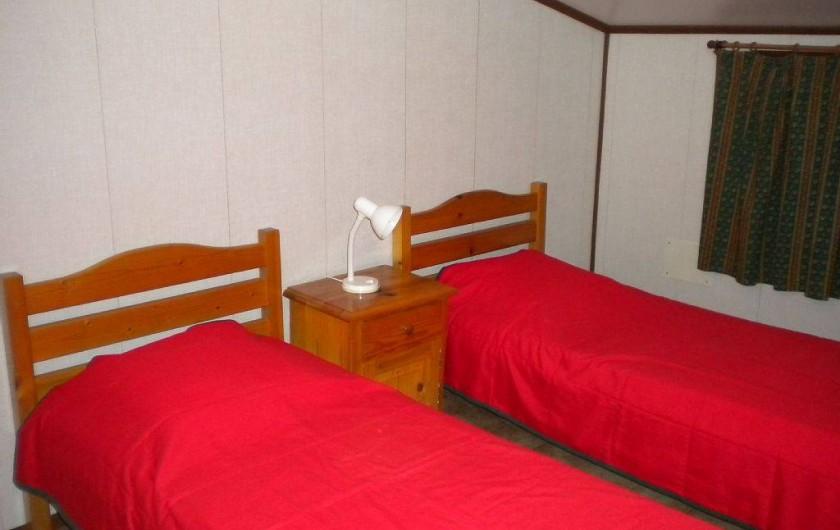 Location de vacances - Maison - Villa à Portiragnes Plage - Chambre 2 personnes 2 lits simples