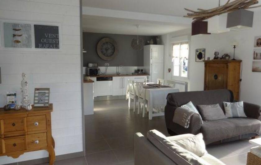 Location de vacances - Maison - Villa à Stella Plage - Séjour-Cuisine