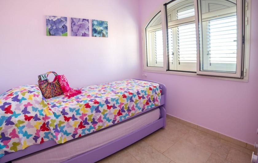 Location de vacances - Appartement à Pescoluse - Chambre 3  C'est magique aussi avec le lits superposés! Pour deux personnes.