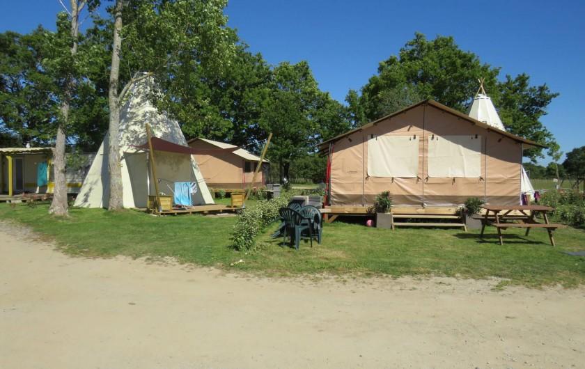 Location de vacances - Camping à Sallertaine - Tipi et lodge