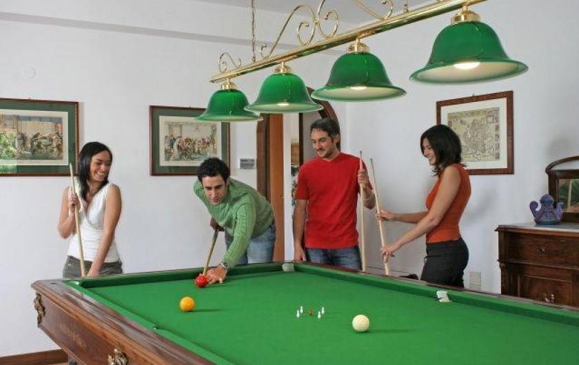 Location de vacances - Villa à San Venanzo - La salle de billiard