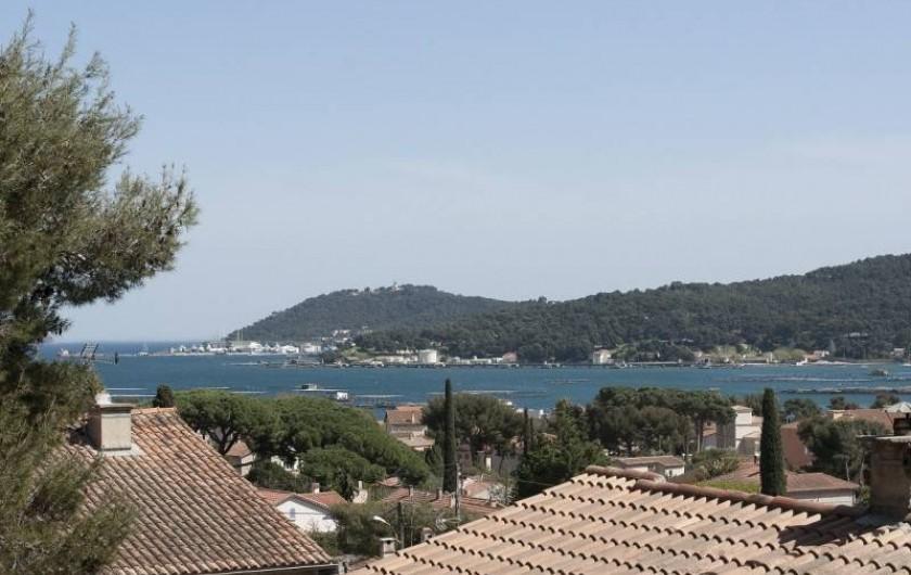 Location de vacances - Villa à Tamaris - Vue sur la rade de Toulon et presqu'île de Saint Mandrier