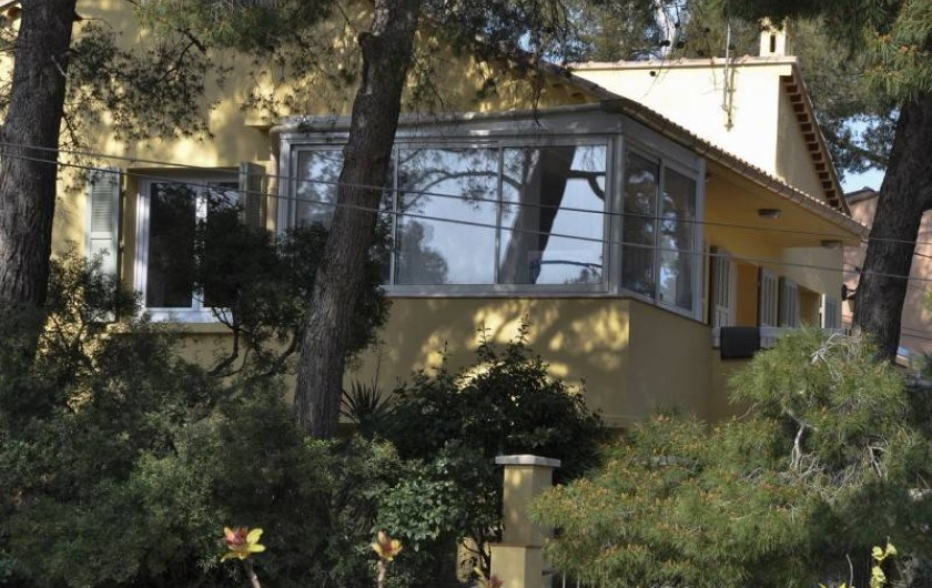 Location de vacances - Villa à Tamaris - Vue de la villa face ouest