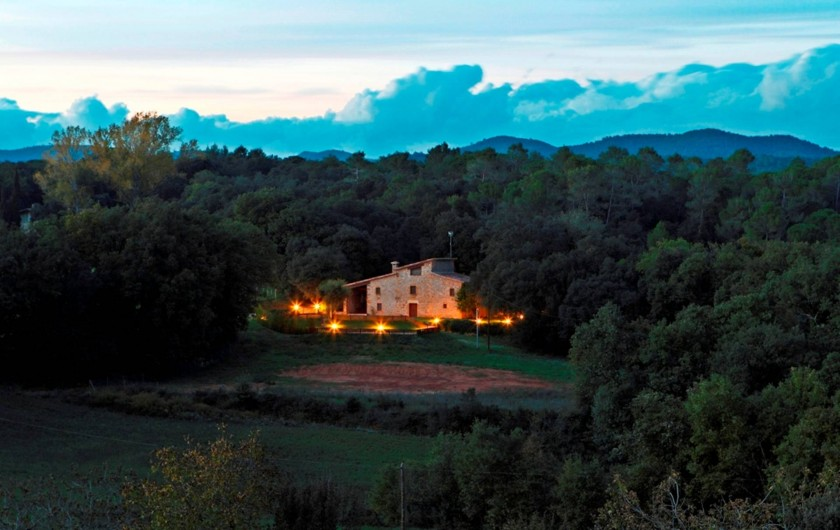 Location de vacances - Mas à Gérone - Panoramique nuit