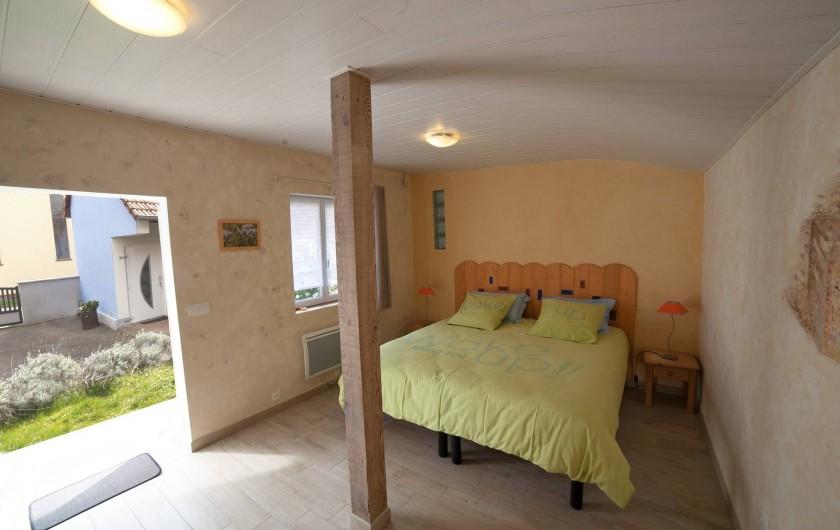 Location de vacances - Appartement à Oberrœdern - La chambre 2 accessible de la terrasse pour 2 personnes