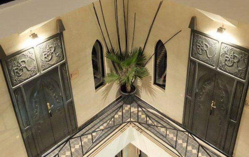 Location de vacances - Chambre d'hôtes à Marrakech - Coursive chambres