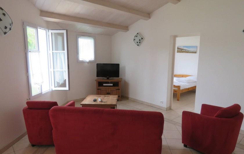 Location de vacances - Villa à Ars-en-Ré - Détente salon