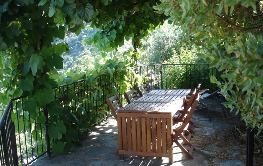 Location de vacances - Villa à Le Pompidou - terrasse en plein été
