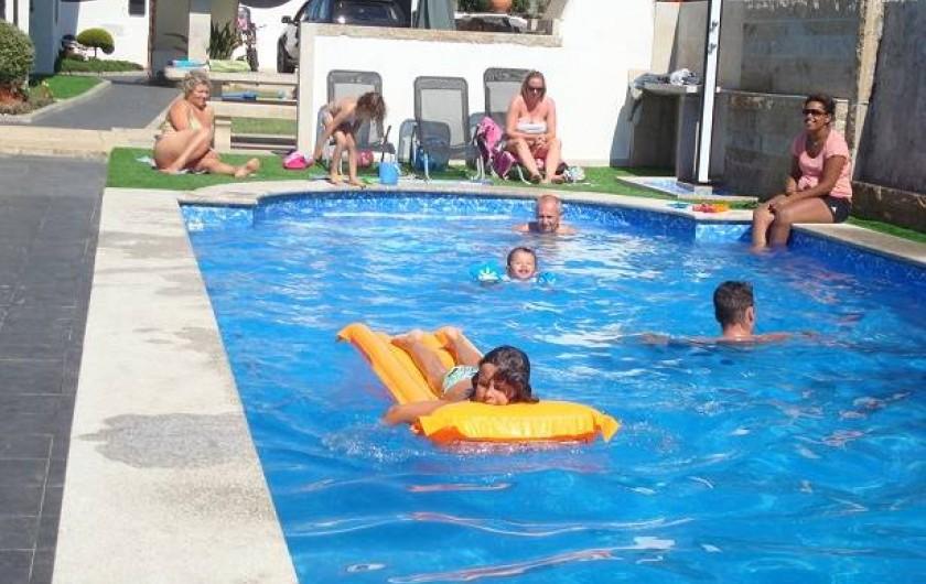 Location de vacances - Villa à Cepães - superbe piscine 10 mètres de long sur 4 mètres de largeur profondeur 120=190