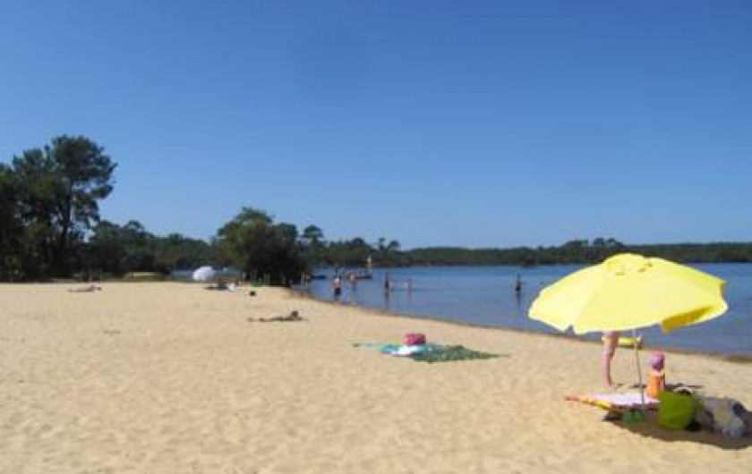 Location de vacances - Camping à Sainte-Eulalie-en-Born - plage bord de lac