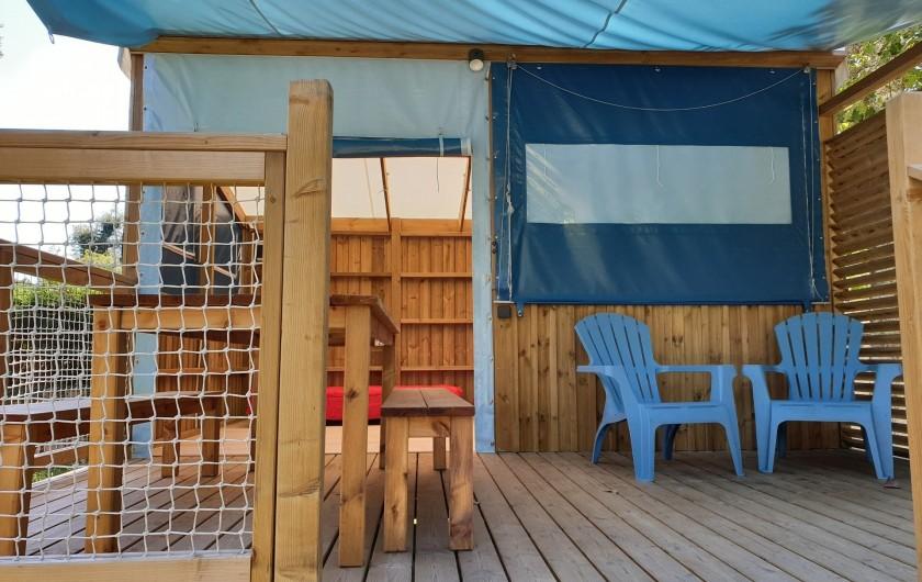 Location de vacances - Camping à Sainte-Eulalie-en-Born - cabane